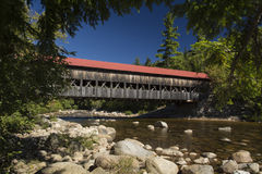 Covered bridge. North Conway New Hampshire over the Saco River Royalty Free Stock Images