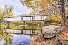 Covered Bridge Over Sugar Creek royalty free stock photo