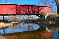 Covered bridge over water Royalty Free Stock Photo
