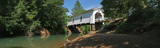 Covered Bridge Panorama - Oregon Stock Images