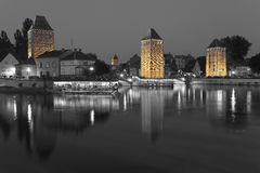 Covered bridge in the petite france, Strasbourg Royalty Free Stock Photography