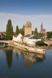 Covered bridge in the petite france, Strasbourg Royalty Free Stock Images