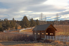 Covered Bridge and Ranch Drive HDR Royalty Free Stock Images