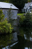 Covered Bridge and Reflection - Autumn / Fall - Vermont Stock Image