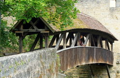 Covered Bridge in Rothenburg Royalty Free Stock Image