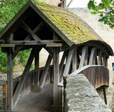 Covered Bridge in Rothenburg Stock Photos