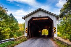 Covered bridge in rural Lancaster County, Pennsylvania. Royalty Free Stock Photo