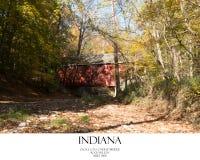 Covered Bridge. Scenic landscape photo royalty free stock images
