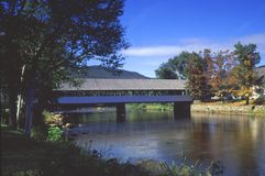 Covered bridge, Stark Village Stock Image