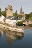 Covered bridge in Strasbourg Stock Photography