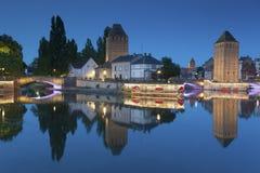 Covered bridge, Strasbourg Royalty Free Stock Photography