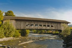 Covered bridge in Switzerland Royalty Free Stock Image