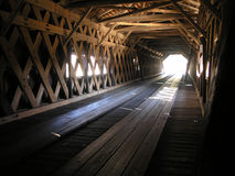 Covered Bridge tunnel Stock Photos