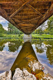 Covered Bridge Underbelly Stock Photos