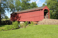 Covered Bridge 25. Utica Mills Covered Bridge Frederick County Maryland 1850 Royalty Free Stock Photos