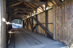 Covered Bridge, Vermont. 'Kissing Bridge' Covered Bridge near Stowe in Vermont Royalty Free Stock Image