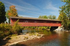 Covered bridge in Vermont. Royalty Free Stock Photo