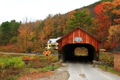 Covered Bridge in Vermont Stock Images
