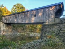 Covered Bridge Vermont Stock Photo