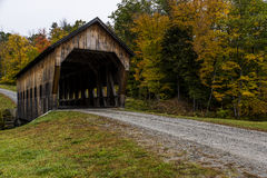 Covered Bridge in Vermont. A new covered bridge in south of Woodstock in rural Vermont Royalty Free Stock Photography