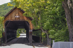 Covered Bridge in Vermont Royalty Free Stock Images