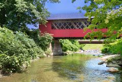 Covered Bridge. The view of a covered bridge in Vermont Stock Images