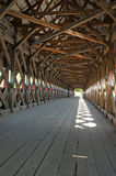 Covered bridge at Wakefield Stock Photography