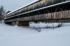 Covered Bridge in the winter Stock Photos