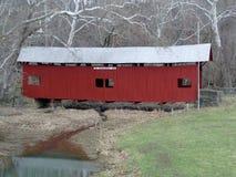 Covered Bridge. Winter Scene - Covered Bridge - Greene County, Pennsylvania Royalty Free Stock Photo