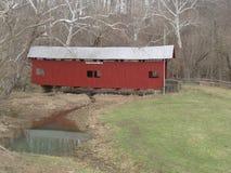 Covered Bridge. Winter Scene - Covered Bridge - Washington County, Pennsylvania Royalty Free Stock Photos