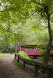 Covered Bridge in the Woods Stock Photo