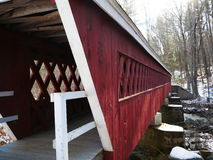 Covered Bridges of New Hampshire. This is one of several covered bridges in Hillsborough County, NH.  Not as famous as The Bridges of Madison County,Clint Royalty Free Stock Images