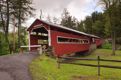 Covered Bridges Pennsylvania. Of all the covered bridges in the United States, Pennsylvania is home to one of the only two remaining twin covered bridges in the Stock Photos