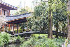 Covered Bridges. This photo was taken inWest Lake Cultural Landscape of Hangzhou, Zhejiang province, china Royalty Free Stock Photography
