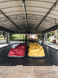 Covered bumper cars Royalty Free Stock Images