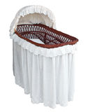 Covered Cane Bassinet Stock Image