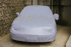 Covered car Stock Image