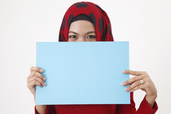 Covered with card Royalty Free Stock Photos