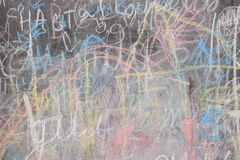 Covered with a chalk board Royalty Free Stock Images