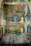 Covered Chuck Wagon Pantry and Cookware Royalty Free Stock Photo
