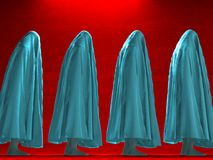 Covered by cloth. Human figures under cloth. Human elements were created with 3D software and are not from any actual human likenesses Royalty Free Stock Photo
