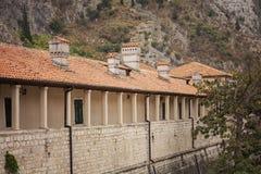 Kotor covered corridor Stock Photography