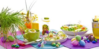 Covered Easter table Royalty Free Stock Images