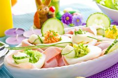 Covered Easter table royalty free stock photos