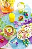 Covered Easter table Royalty Free Stock Photography