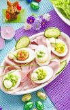 Covered Easter table Royalty Free Stock Photo