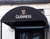 Covered Entrance With Signage In Dublin Ireland Stock Photos
