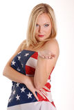 Covered by flag Stock Image