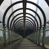 Covered footbridge Stock Photo