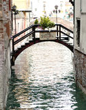 Bridge on a venetian Canal, Venice, Italy Royalty Free Stock Images